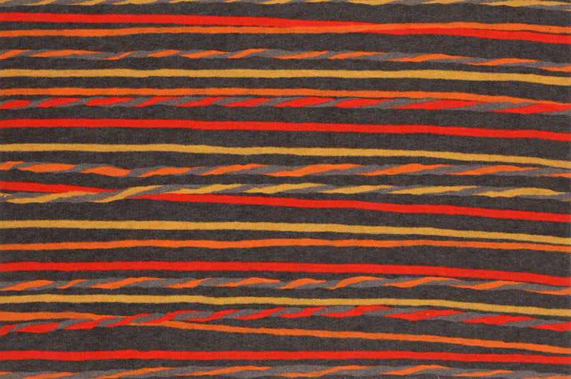 "Twist Stripe Grey/Warm 20"" x 29.5"" Indoor/Outdoor Rug"