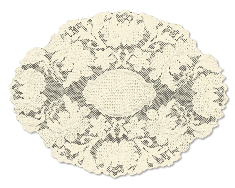 Windsor 12X16 Doily, Ecru
