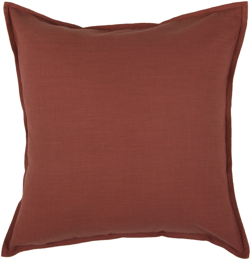 "Self Flange Detail Paprika Pillow Cover (20"" x 20"")"