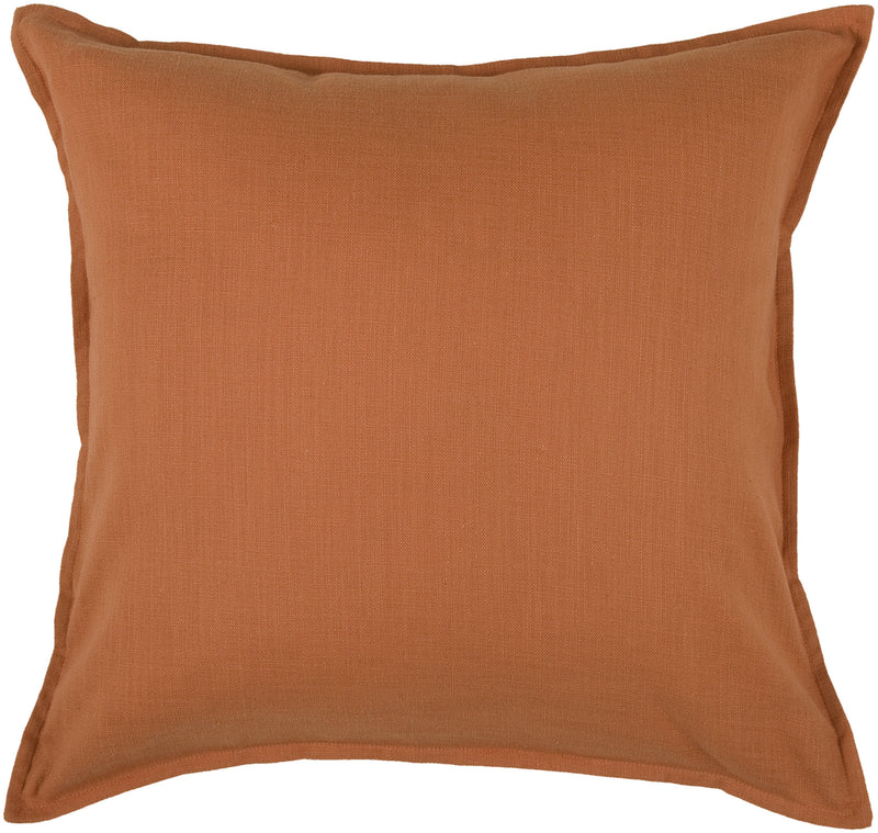"Self Flange Detail Orange Pillow Cover (20"" x 20"")"