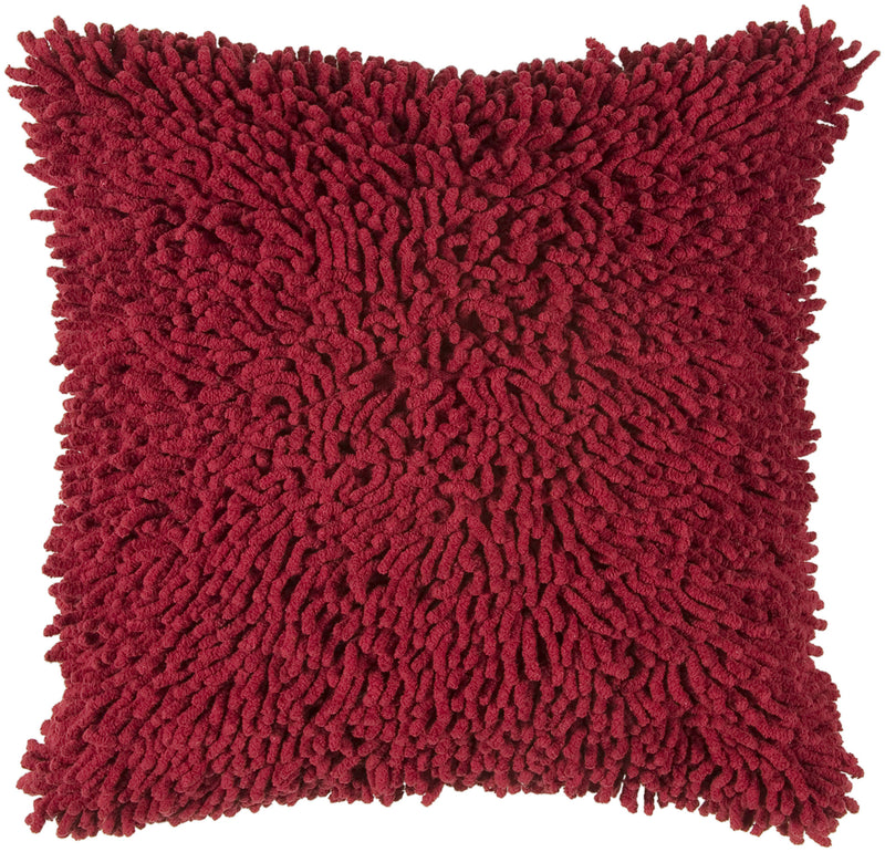 "Shag Red Pillow Cover (18"" x 18"")"