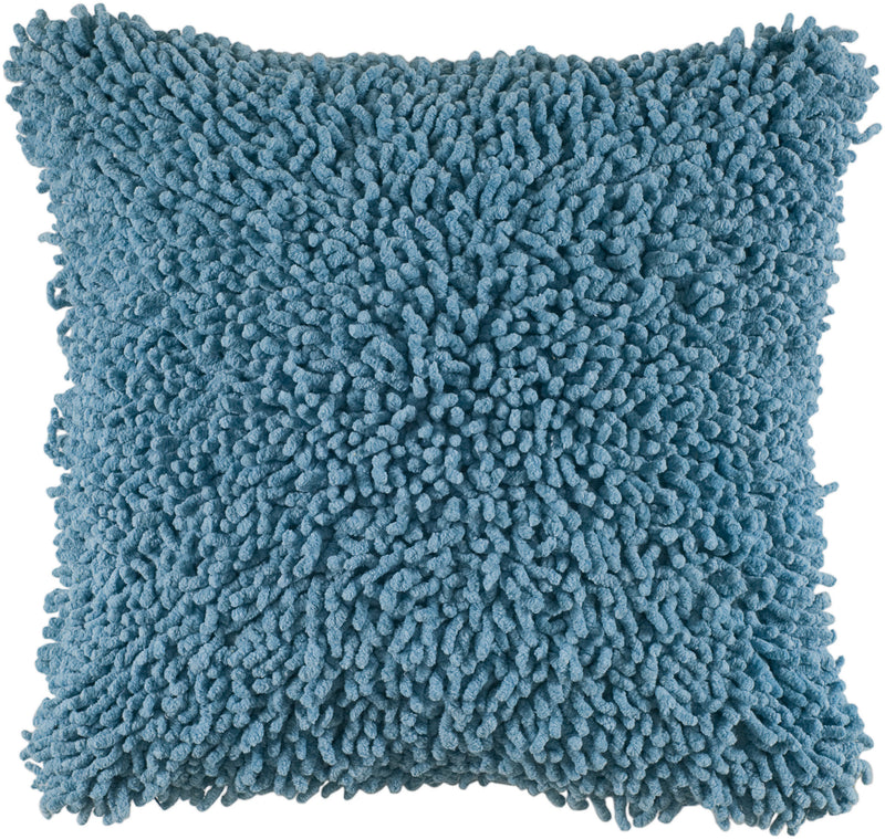 "Shag Blue Pillow Cover (18"" x 18"")"