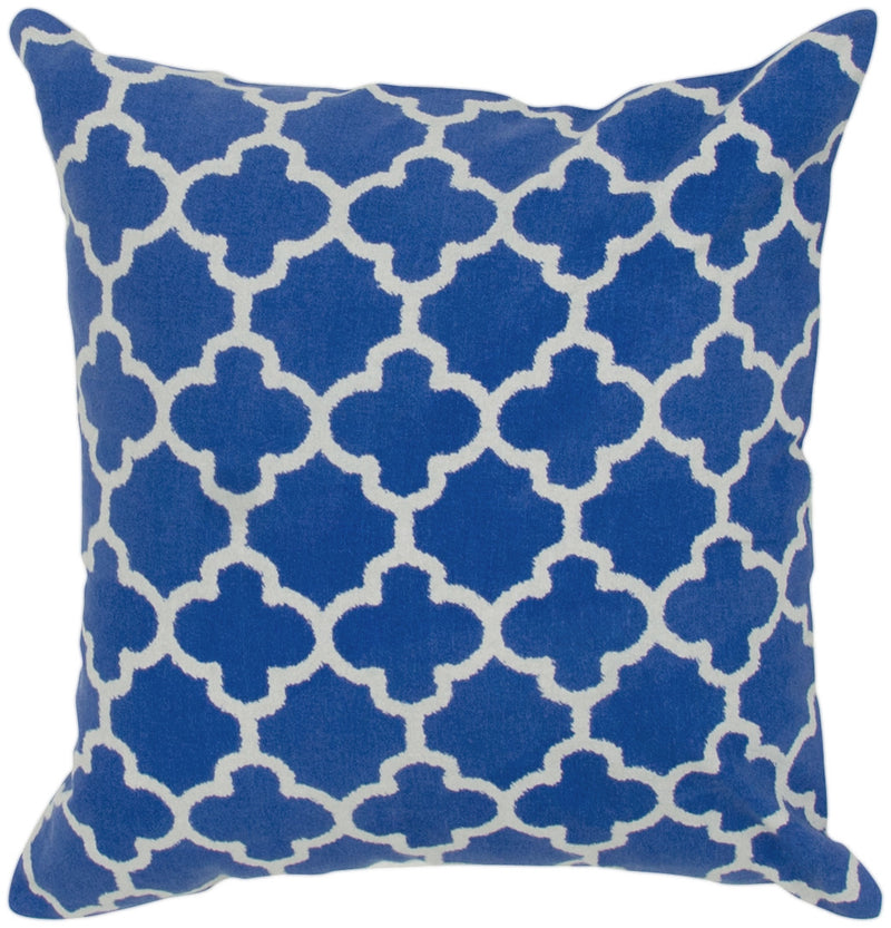 "Two Color Printed Marine Blue Pillow Cover (18"" x 18"")"