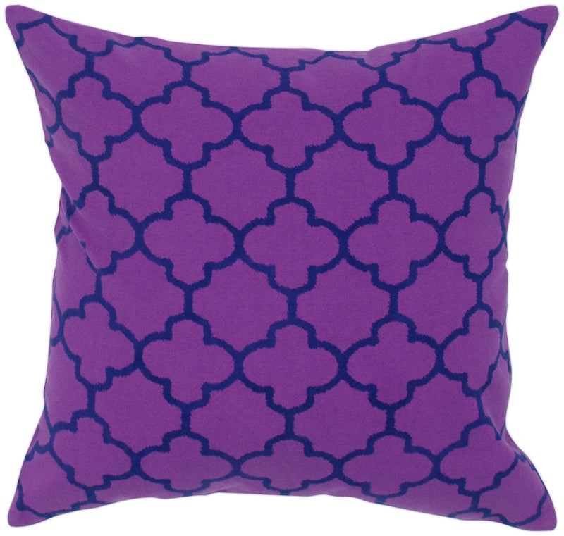 "Two Color Printed Purple Pillow Cover (18"" x 18"")"