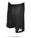Black/White Cloud- Board Shorts