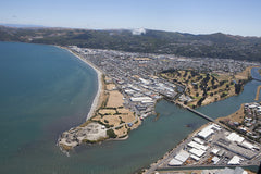 Petone Beach and the Hutt River