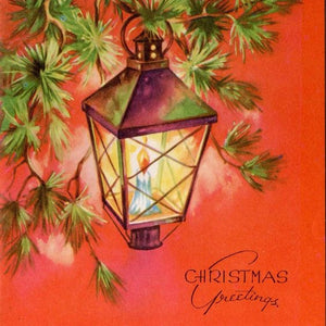 CH-329 Christmas greeting lantern