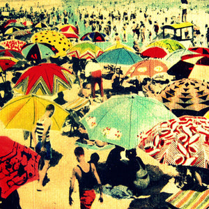 BE-052 Beach Umbrellas Postcard