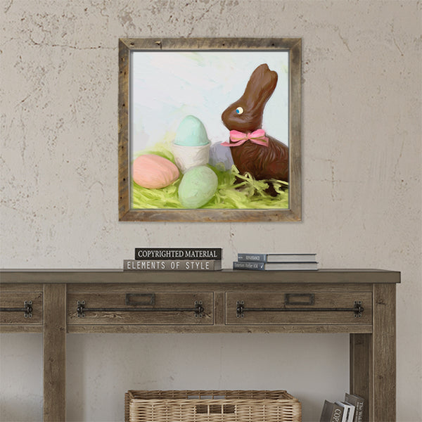 Chocolate Bunny with Eggs