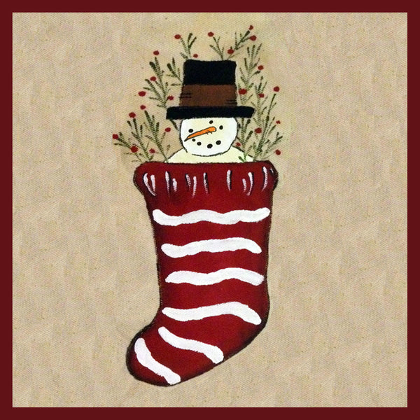 Snowman in Stocking
