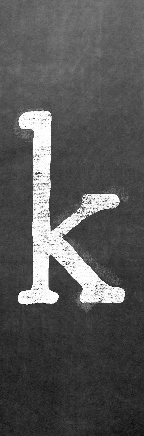 CLK-001 Chalk lower case letter K