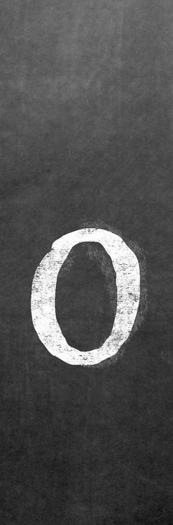 CLO-001 Chalk lower case letter o