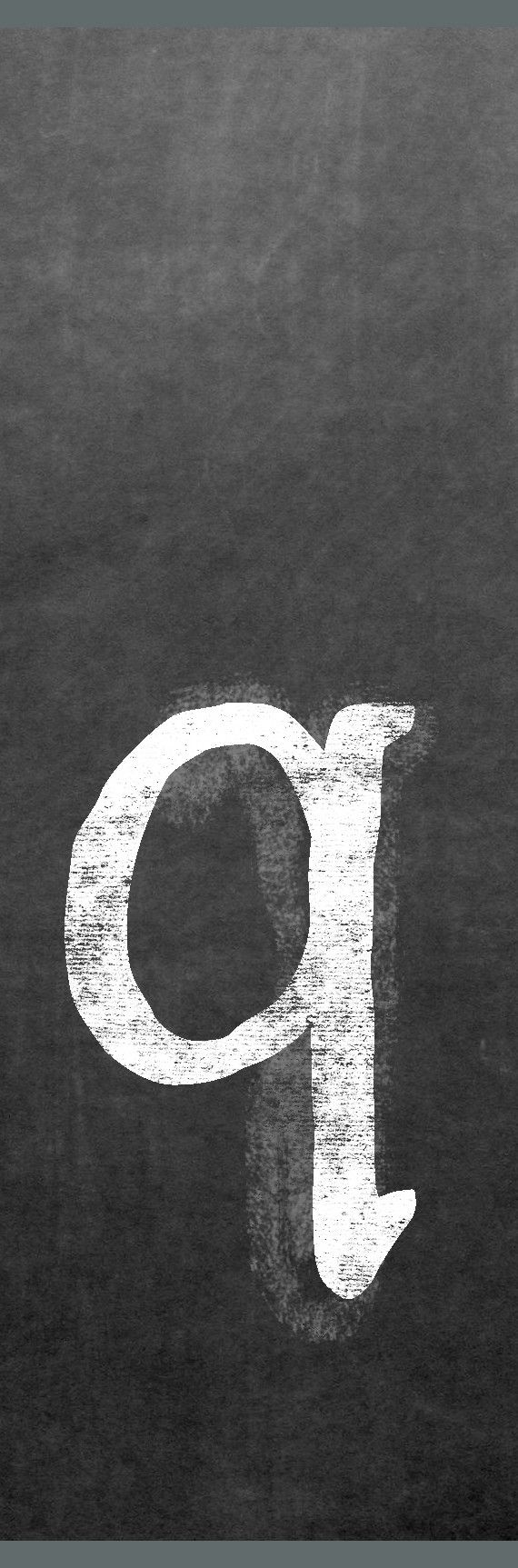 CLQ-001 Chalk lower case letter q