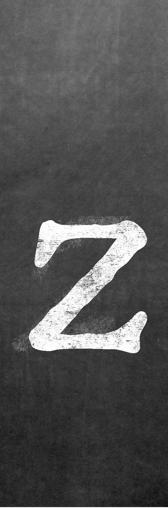 CLZ-001 Chalk lower case letter z