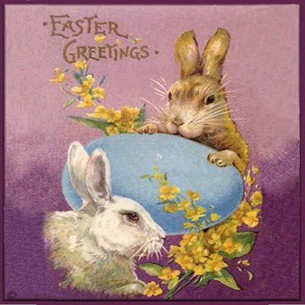 EH-405 Easter greetings bunnies