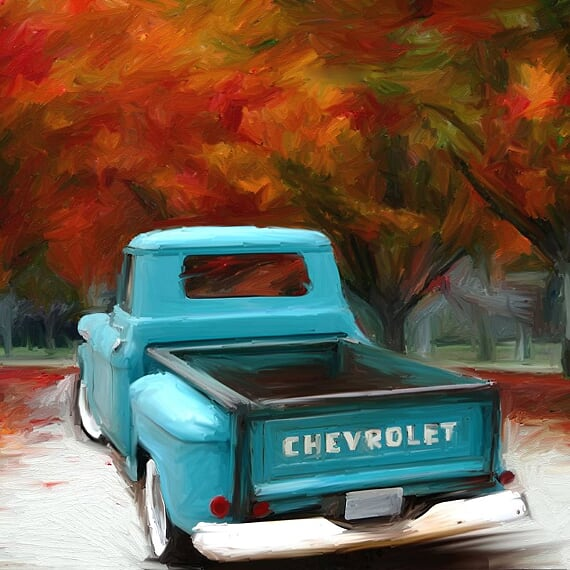 FL-240 Old Chevy Truck at Fall Time