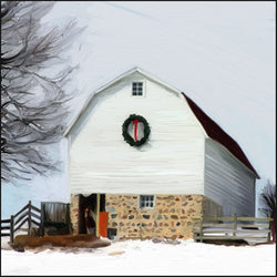 HG-027 Barn with Wreath