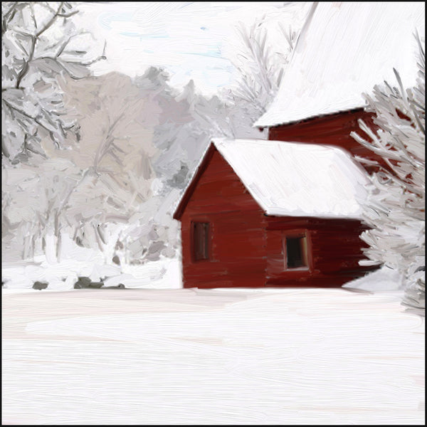 Red Barn with Peak