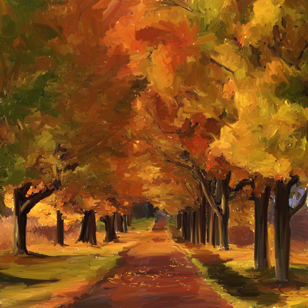 Fall Tree Lined Path