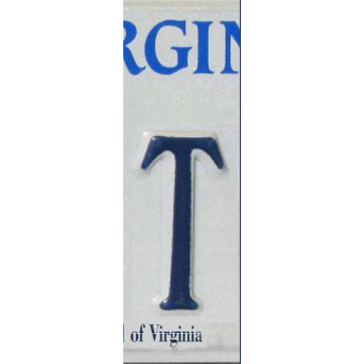 T - License Plate Letters