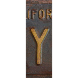 Y- License Plate Letters