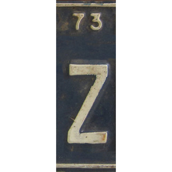 Z - License Plate Letters