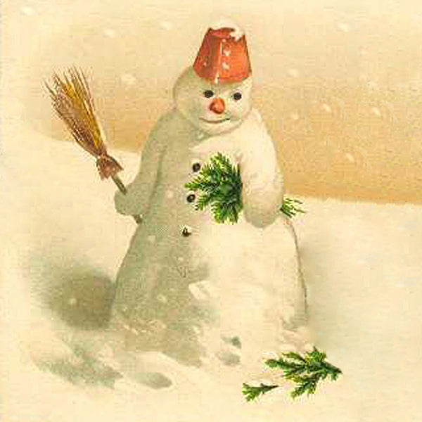 SM-001 Snowman in pill box hat