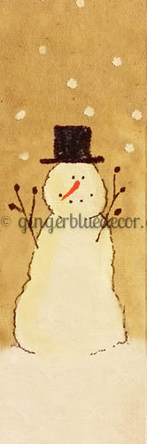 SM-033 Snowman boy with top hat