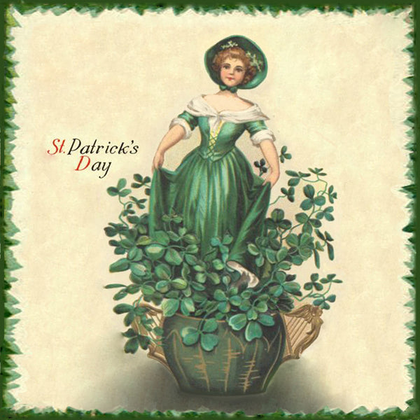 St Patrick's Day Lady in Clovers