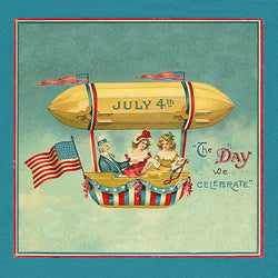 Vintage Patriotic Hot Air Balloon