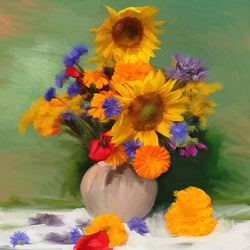 FL-207 Springtime Bouquets of Sunflowers
