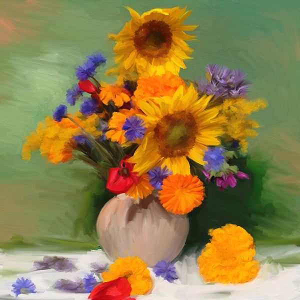 Springtime Bouquets of Sunflowers