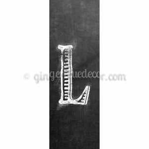 CUL-001 Chalk upper case letter L