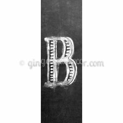 CUB-001 Chalk upper case letter b