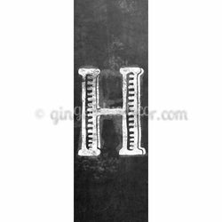 CUH-001 Chalk  upper case letter h