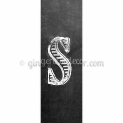 CUS-001 Chalk upper case letter s