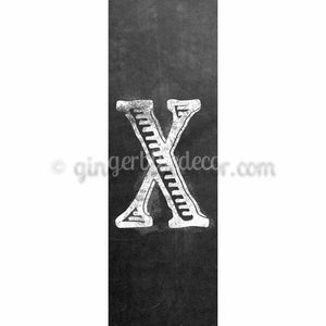 CUX-001 Chalk upper case letter x