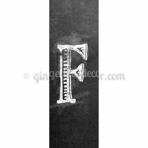CUF-001 Chalk upper case letter F