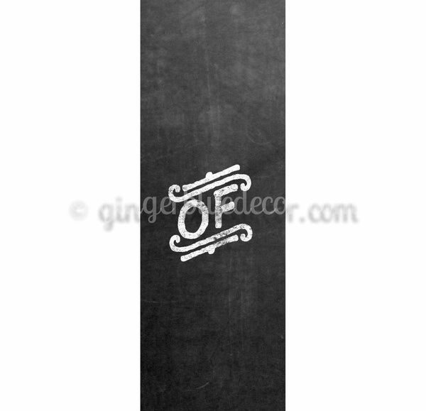 CKH-001 Chalkboard keyword of