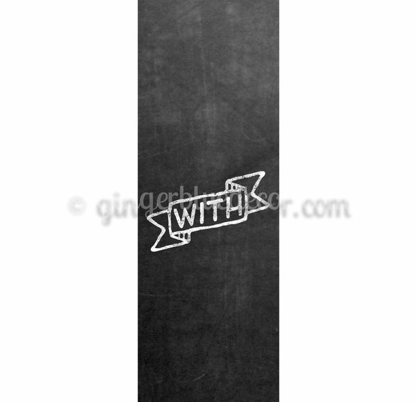 CKW-001 Chalkboard keyword with