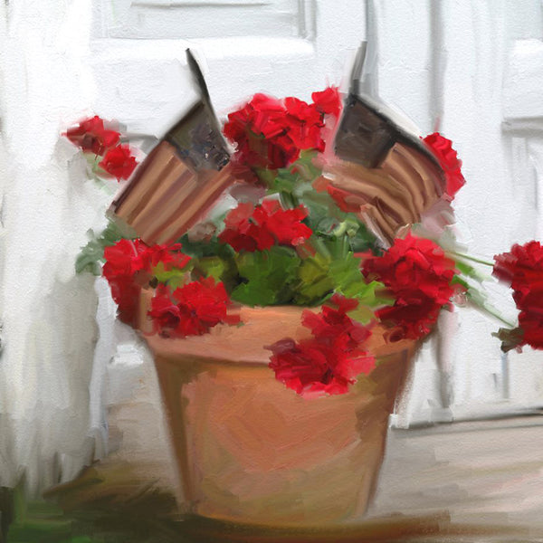 FL-224 Geraniums with flags