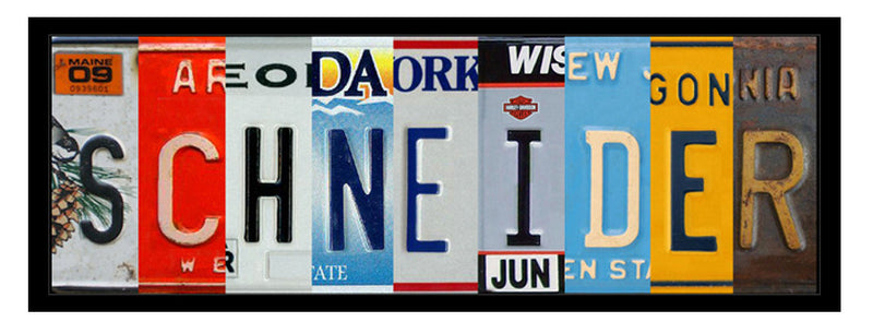 WB-009 License Plate Sign board