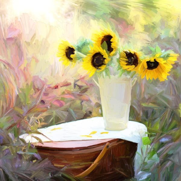 FL-200 Sunflowers with picnic basket