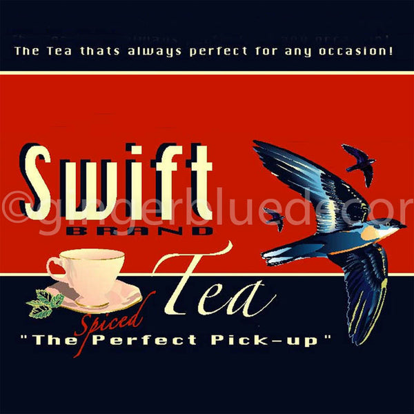 KC-191 Swift Tea Food Label