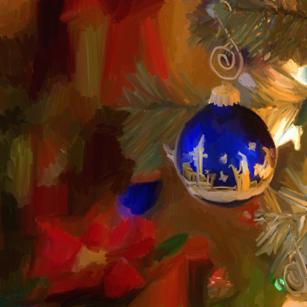 CH-071 Blue Ornament Christmas Tree
