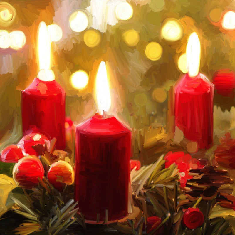 Trio of Christmas Candles