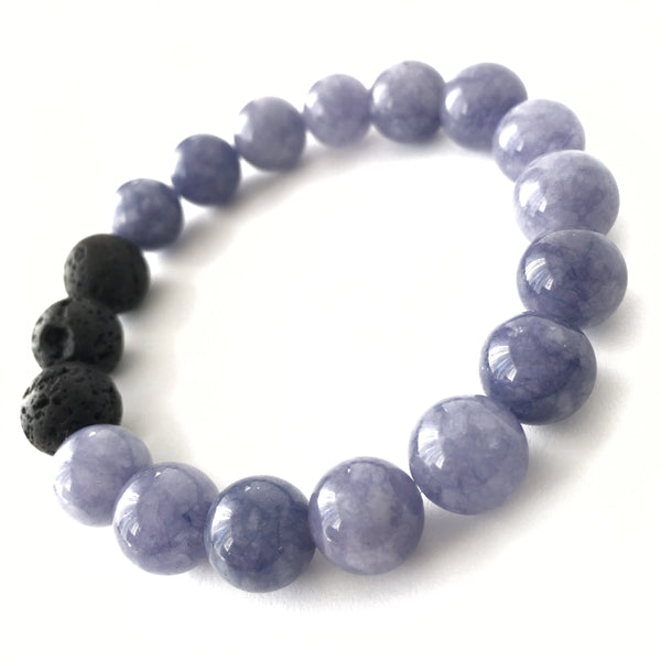 Lepidolite Gemstone Essential Oil Diffuser Bracelet 10mm