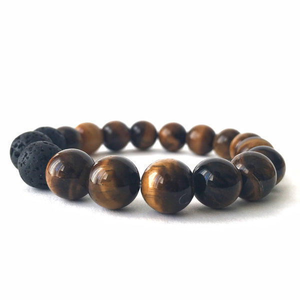 Tiger's Eye Essential Oil Diffuser Bracelet 10mm