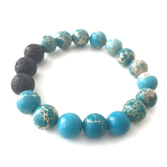Imperial Jasper Essential Oil Diffuser Bracelet 10mm