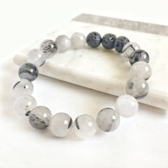 Rutilated Quartz Aromatherapy Diffuser Bracelet 10mm